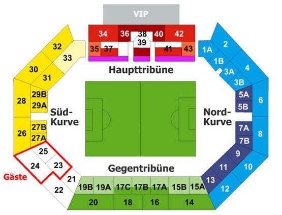 Stadionplan Nürnberg