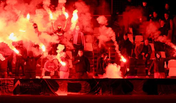 Vorschaubild: Pyroshow der FCK-Fans beim Testspiel gegen Lugano