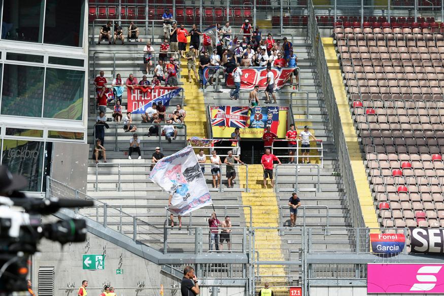 Nur 80 Fans begleiteten die SpVgg Unterhaching zum Saisonauftakt nach Kaiserslautern