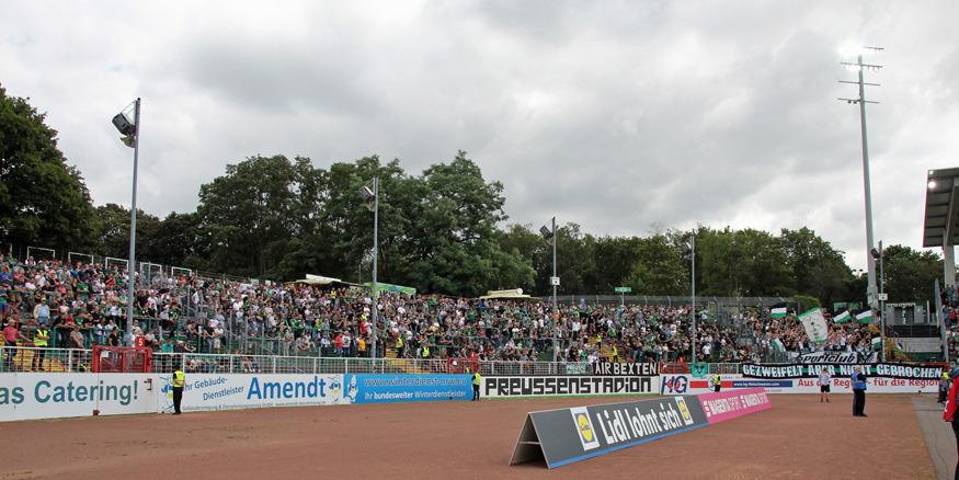 Die Heimkurve der Münster-Fans