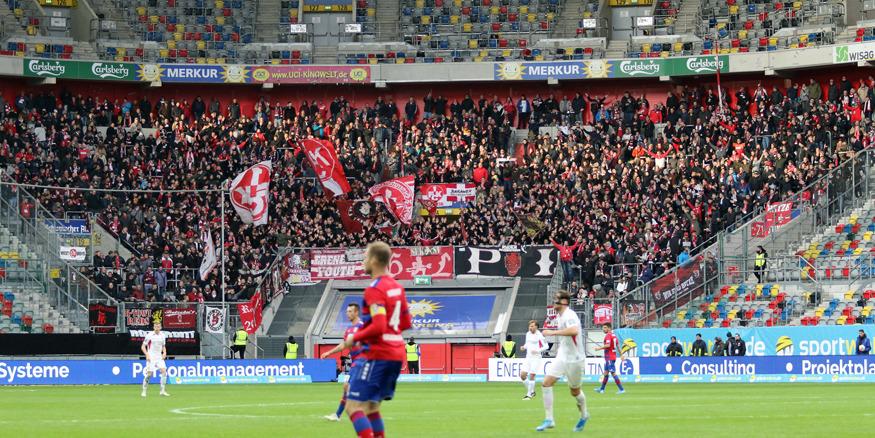FCK-Block beim Auswärtsspiel beim KFC Uerdingen