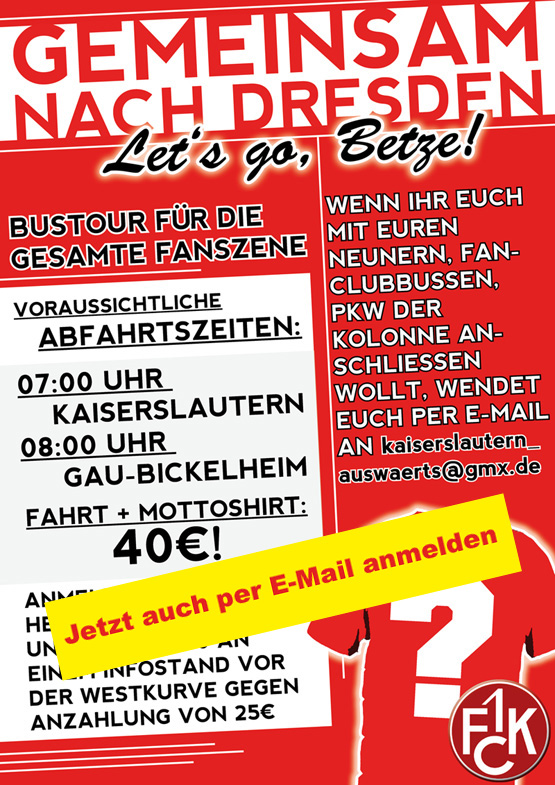 Ankündigungsplakat: Gemeinsam nach Dresden