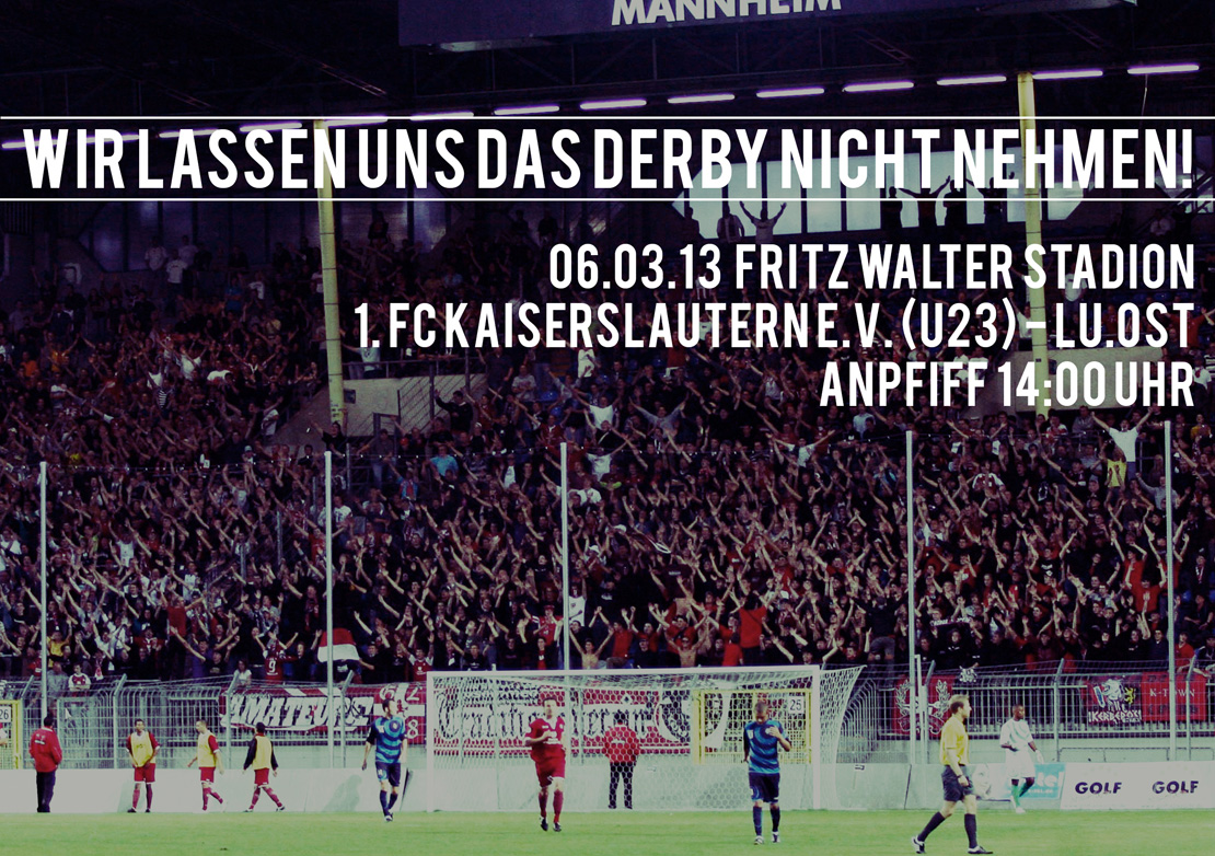 Flyer: Wir lassen uns das Derby nicht nehmen!