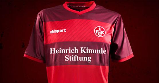 FCK-Trikot mit Schriftzug der Heinrich Kimmle Stiftung