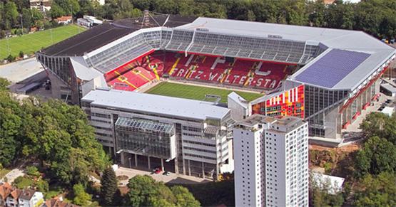 Luftaufnahme des Fritz-Walter-Stadions in Kaiserslautern